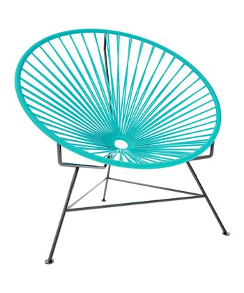 Turquoise & Black Chair