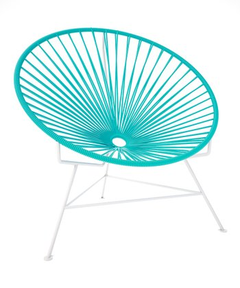 Turquoise & White Chair