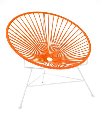 Orange & White Chair