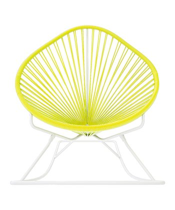 Yellow & White Acapulco Rocker
