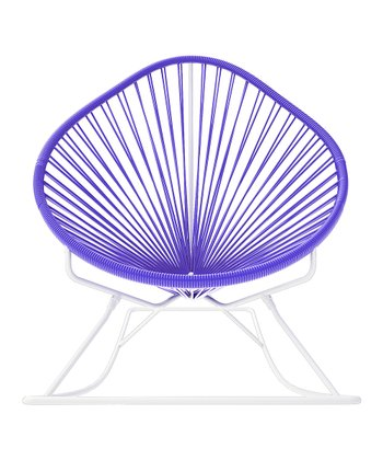 Purple & White Acapulco Rocker