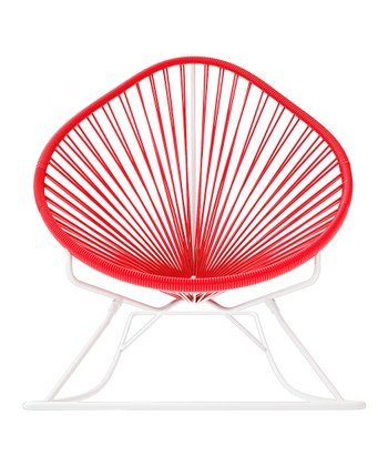 Red & White Acapulco Rocker