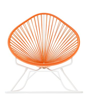 Orange & White Acapulco Rocker
