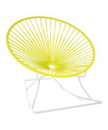 Yellow & White Rocker