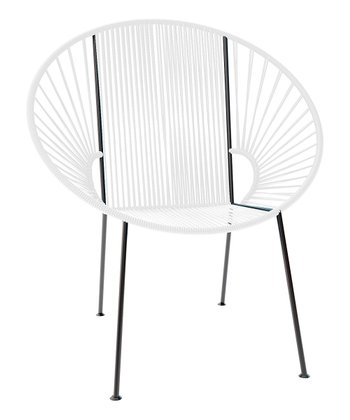 White & Black Concha Chair