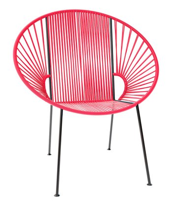 Pink & Black Concha Chair