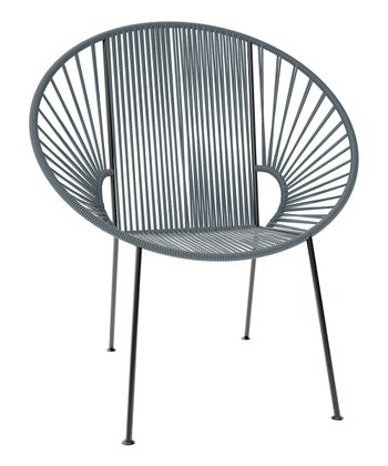 Gray & Black Concha Chair