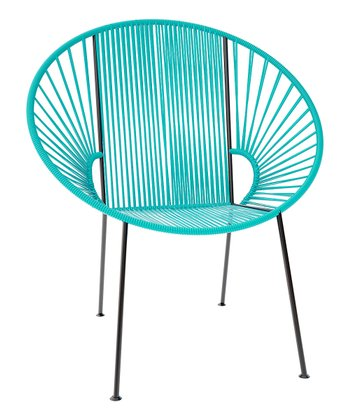 Turquoise & Black Concha Chair