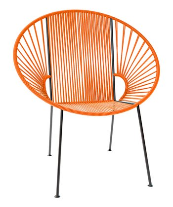 Orange & Black Concha Chair
