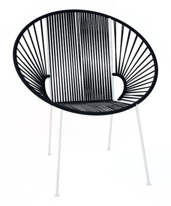 Black & White Concha Chair