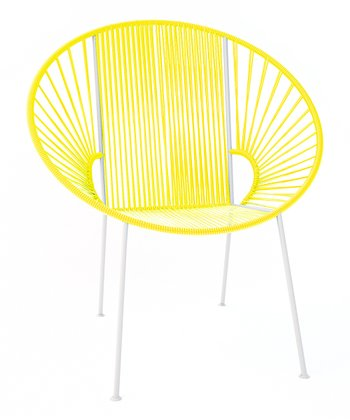 Yellow & White Concha Chair