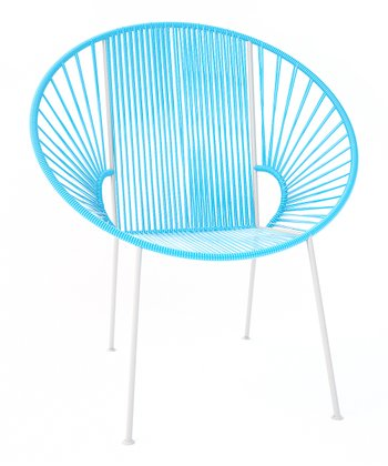 Blue & White Concha Chair