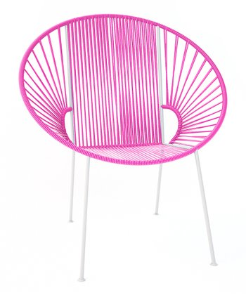Pink & White Concha Chair