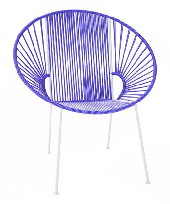 Purple & White Concha Chair