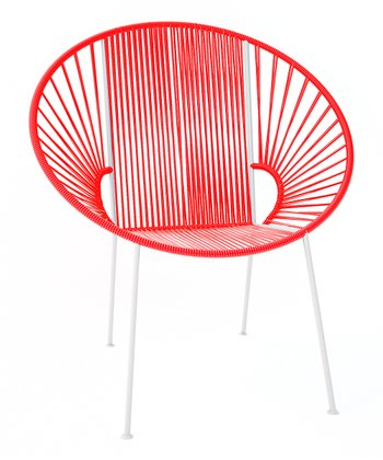 Red & White Concha Chair