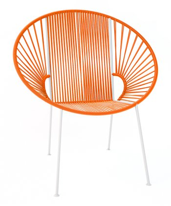 Orange & White Concha Chair