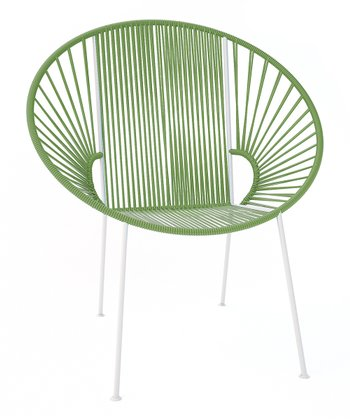 Olive & White Concha Chair