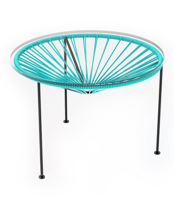 Turquoise & Black Zica Table