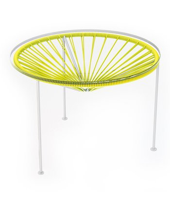 Yellow & White Zica Table