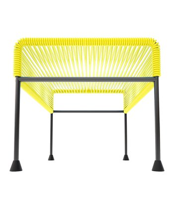 Yellow & Black Adam Ottoman