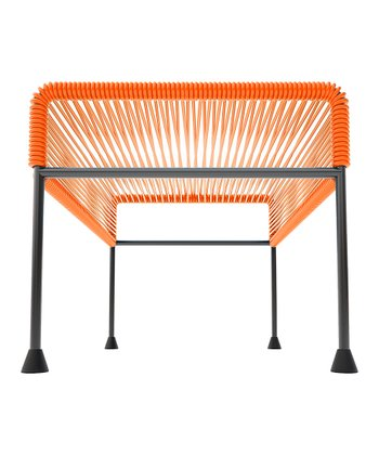 Orange & Black Adam Ottoman