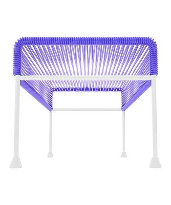 Purple & White Adam Ottoman