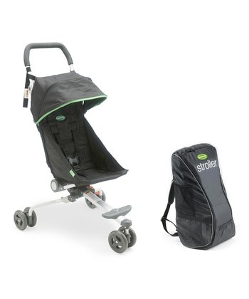 Black & Lime Stroller & Backpack