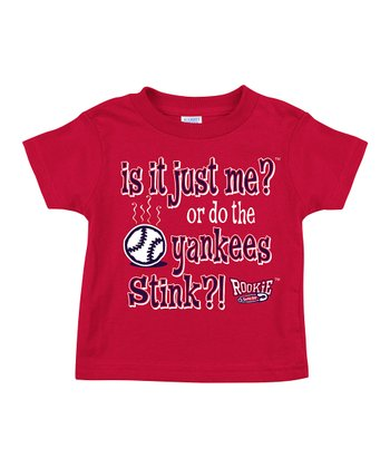 Red 'Is It Just Me? Or Do The Yankees Stink?' Tee - Toddler