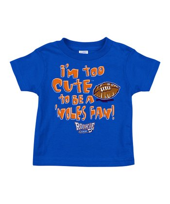 Royal 'I'm Too Cute to Be a 'Noles Fan' Tee - Infant & Toddler