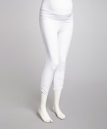 White Maternity Capri Pants