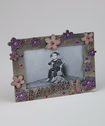 Pink & Purple 'Ballerina' Picture Frame