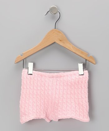 Pink Cable-Knit Shorts - Women