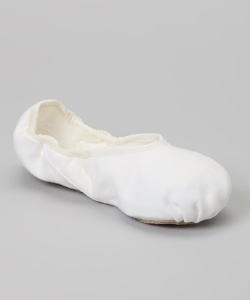 White Canvas Dance Slipper