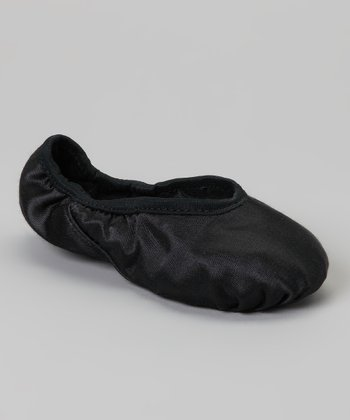 Black Satin Dance Slipper