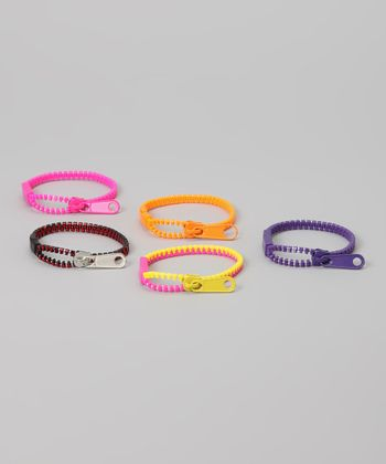 Zipper Bandz Pink & Purple Serious Arm Candy Bracelet Set