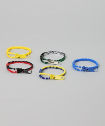 Zipper Bandz Blue & Yellow Rock-N-Roll Bracelet Set