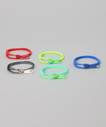 Zipper Bandz Blue & Green Must-Have Mix Bracelet Set