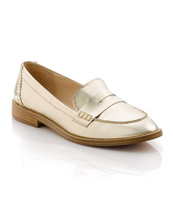Gold Mona Loafer