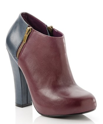 Navy & Wine Nancy Bootie