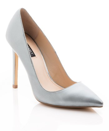 Silver Patent Leather Gelareh Pump