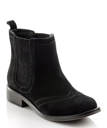 Black Suede Abigail Ankle Boot