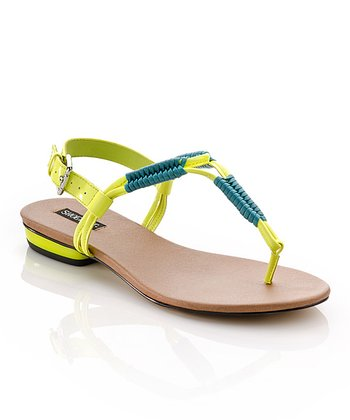 Yellow & Teal Hejsa Sandal