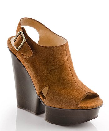 Brown Suede Isabella Wedge