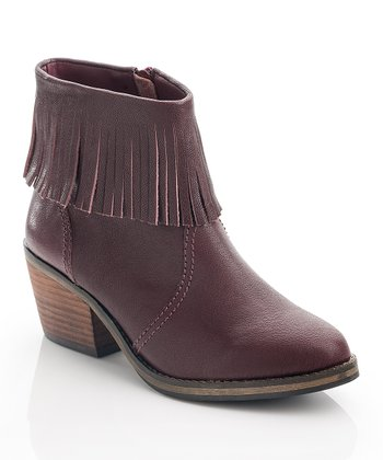 Red Wine Lucy Ankle Boot