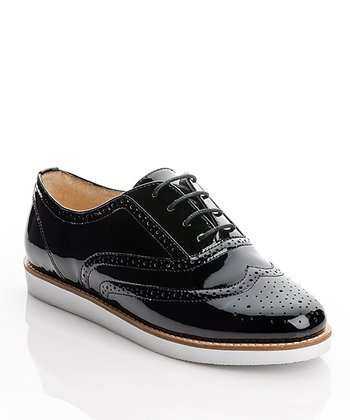 Black Patent Frankie Oxford