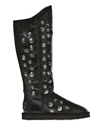 Black Angel Distressed Tall Boot