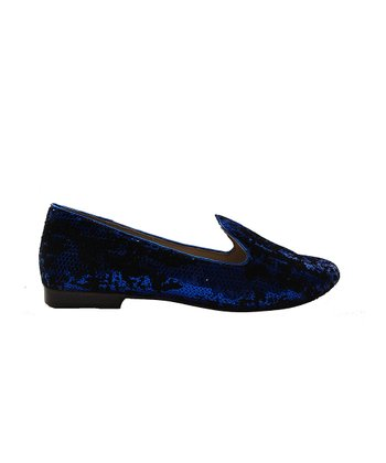 Cobalt Sequin Classica Leather Loafer