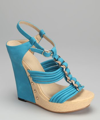Blue Adrianna Wedge