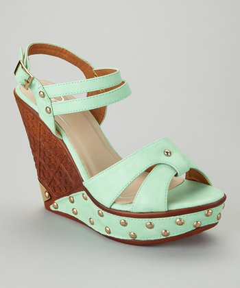Sage Green Dolores-04 Wedge Sandal