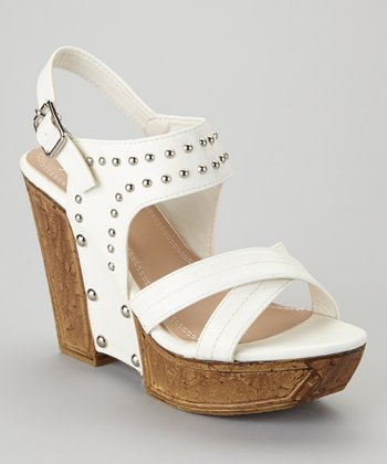 White Quintina-02 Wedge